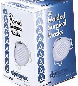 Masque chirurgicaux moulé Dynarex