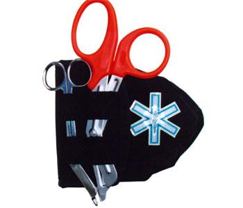 Étui pour masque de poche/ciseaux avec croix de vie