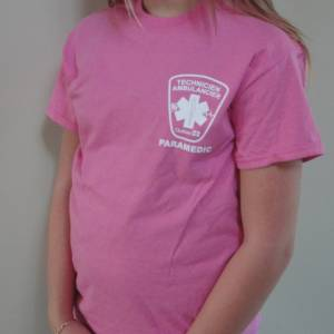 T-Shirt PARAMEDIC ROSE avec logo TAP QUÉBEC