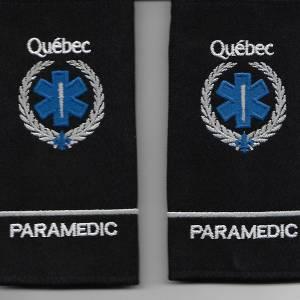 Set Épaulettes Paramédic Québec